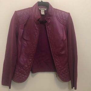 Nygard purple 100% leather jacket
